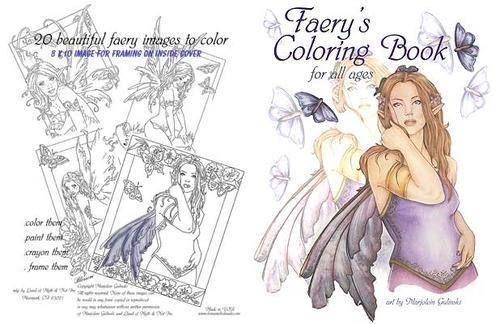 Marjolein Gulinski Fantasy Fairy Coloring Book
