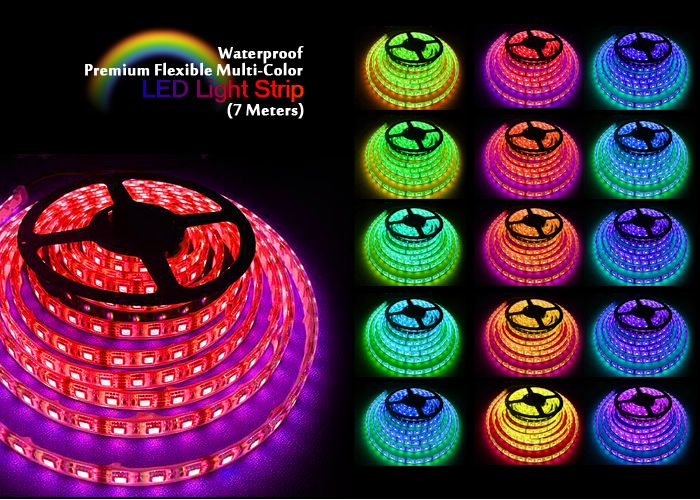 Multi Color LED Light Strip String Rope 7 Mtrs 23 Feet Remote control