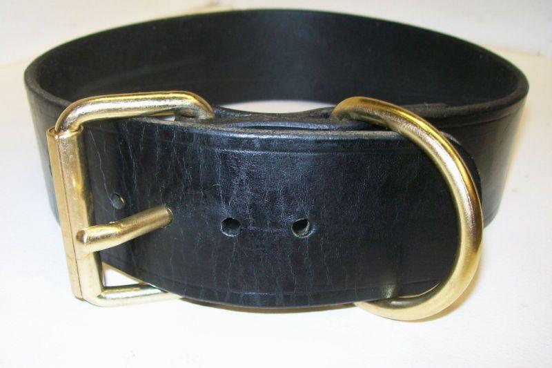 New 2 Heavy Duty Leather Harness Dog Collar Schutzhund