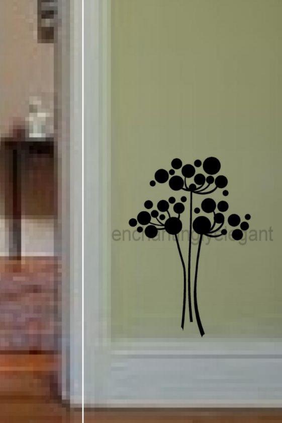 Dandelion Spores Flowers Vinyl Decal Wall Sticker Kitchen Laundry Room