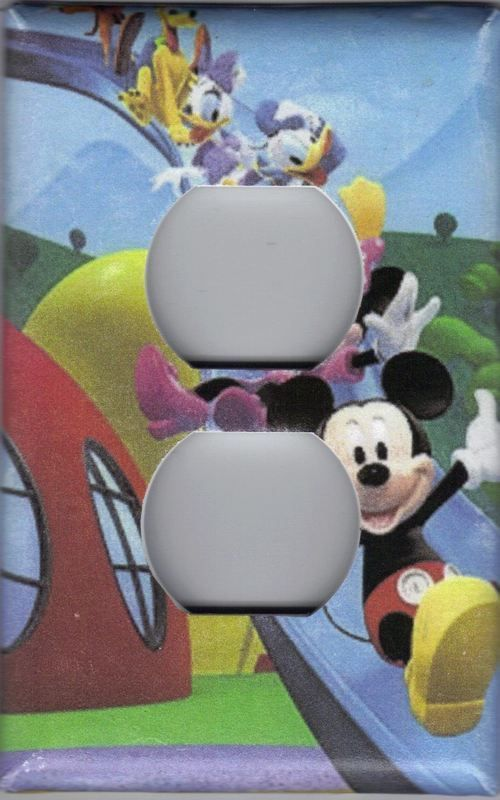 OUTLET PLUG COVER DISNEY MICKEY MOUSE CLUBHOUSE