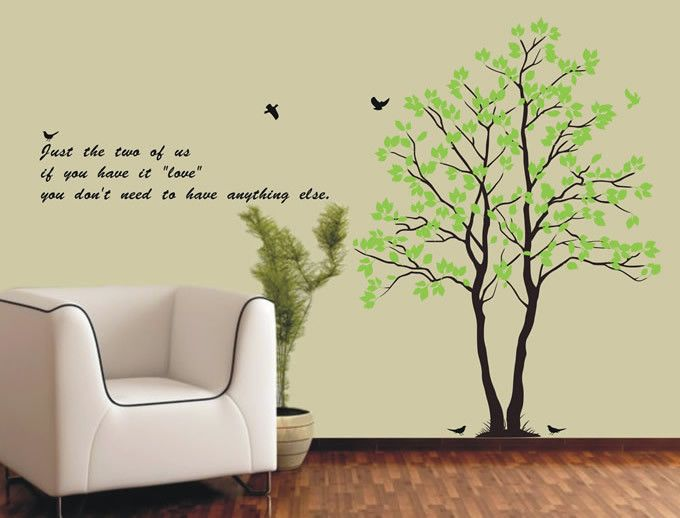 Tree Art Decor Mural Vinyl Wall Paper Sticker Decal 092