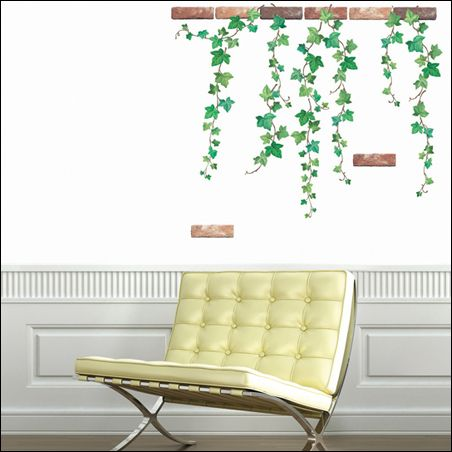 IVY VINE Removable Art Deco Mural Wall Sticker Decal