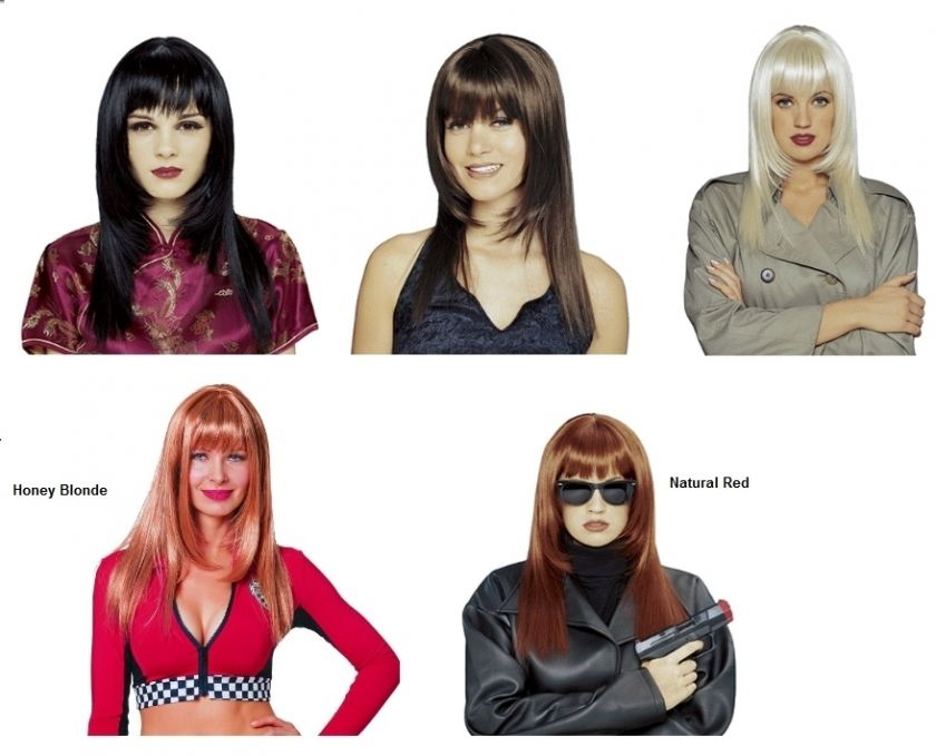 Deluxe High Quality Womens International Beauty Wig with Bangs Costume