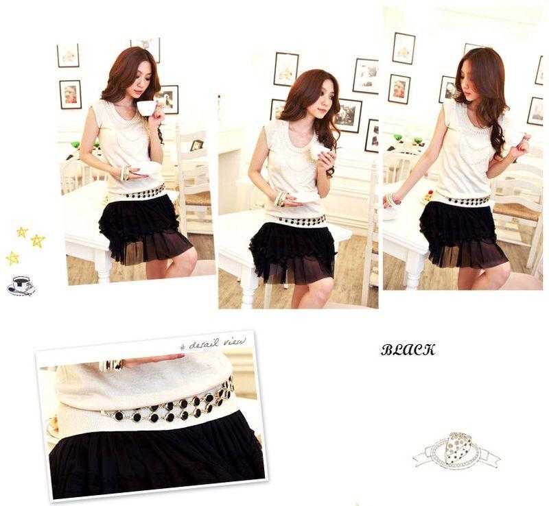 Women Ladies Sexy Gemstones Gold Chain Link Belt SIZE SM MED |