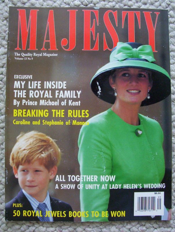 MAJESTY Magazine September 1992 Prince Harry And Diana Lady Helens