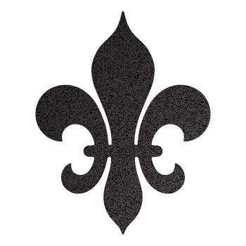 Vinyl Car Decal Sticker Fleur De lis logo symbol ZK6ZZ